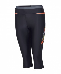 Speedo Hydra Fizz Capri Pant Black/Orange
