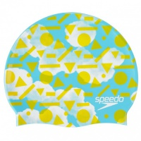 Speedo Slogan Cap Junior Light Adriatic/Citron/White