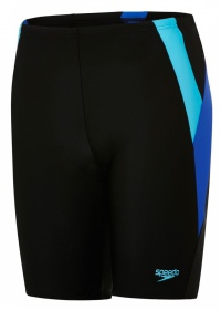 Speedo Colour Block Jammer Junior Black/Blue/Turquoise