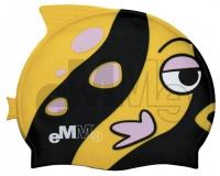 Cuffia nuoto per bambini Emme pesce nero-giallo