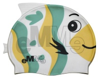 Cuffia nuoto per bambini Emme pesce verde-giallo