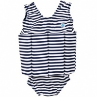 Splash About Floatsuit Navy White Stripes