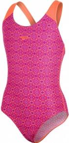 Speedo Polka Spot Allover Splashback Girl Violet/Fluo Orange/Bubblegum Pink/Post It Pink