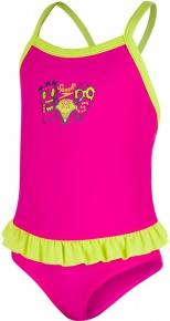 Speedo Moonset Frill Suit Girl Electric Pink/Navy