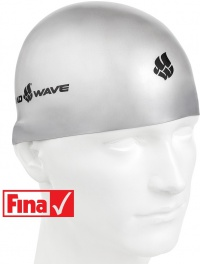 Mad Wave Soft Swim Cap Grey