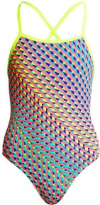 Funkita Glitter Girl Strapped In One Piece Girls