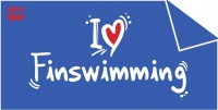 BornToSwim I Love Finswimming Towel