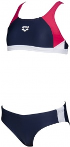 Arena Ren Two Pieces Junior Navy/Freak Rose/White