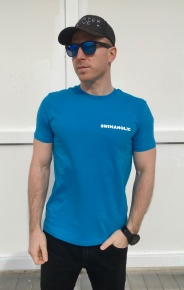 Swimaholic Life Is Cool In The Pool T-Shirt Men Azure