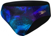 Speedo Allover 7cm Brief Black/Violet/Pool